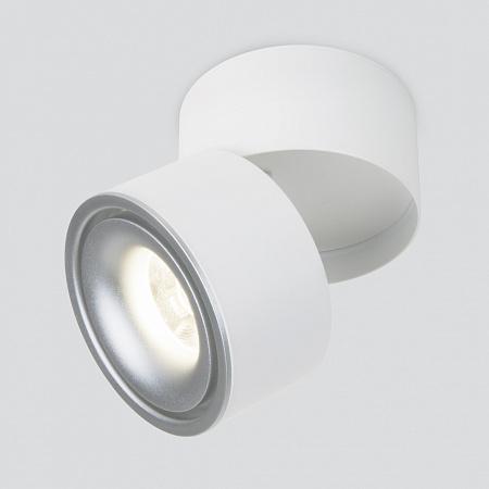 Светодиодный спот Elektrostandard Klips DLR031 15W 4200K белый матовый/серебро