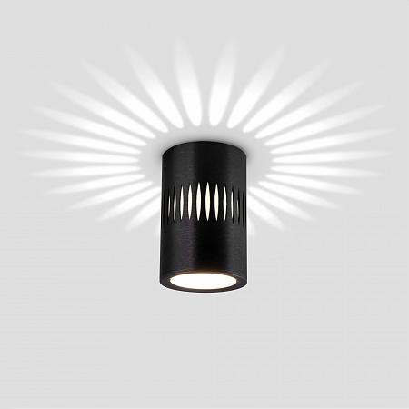 Потолочный светодиодный светильник Elektrostandard DLS026 черный