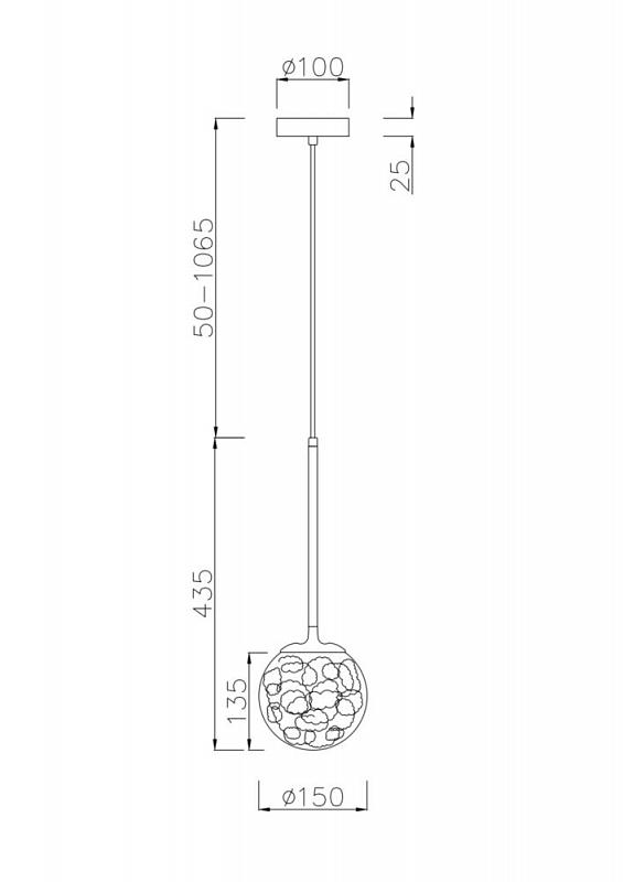 Подвесной светильник Maytoni Ligero MOD061PL-01CH