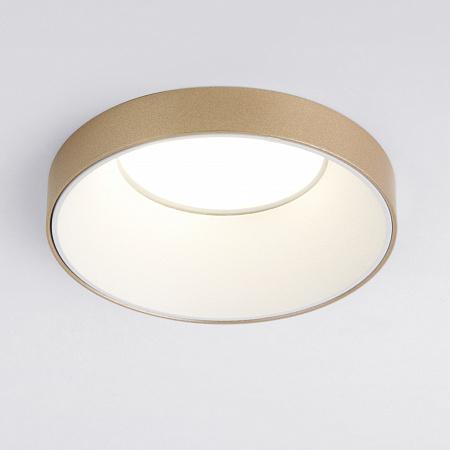 Встраиваемый светильник Elektrostandard 112 MR16 белый/золото