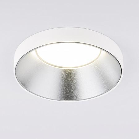 Встраиваемый светильник Elektrostandard 112 MR16 серебро/белый