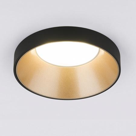 Встраиваемый светильник Elektrostandard 112 MR16 золото/черный