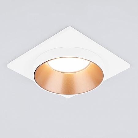 Встраиваемый светильник Elektrostandard 116 MR16 золото/белый