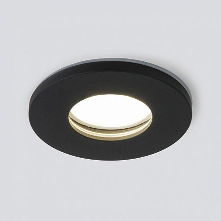 Встраиваемый светильник Elektrostandard 125 MR16 черный матовый