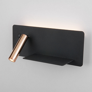 Бра с выключателем Elektrostandard Fant R LED чёрный/золото MRL LED 1113