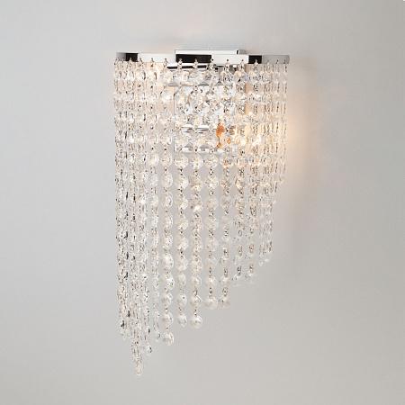 Настенный светильник Eurosvet 3102/2 хром/прозрачный хрусталь Strotskis