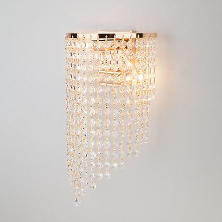 Настенный светильник Eurosvet 3102/2 золото/прозрачный хрусталь Strotskis