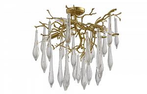 Потолочная люстра Crystal Lux Reina REINA PL5 D600 GOLD PEARL