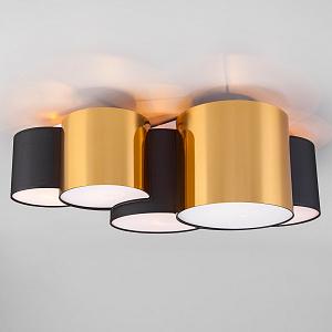 Потолочная люстра TK Lighting Mona 3447 Mona Black/Gold