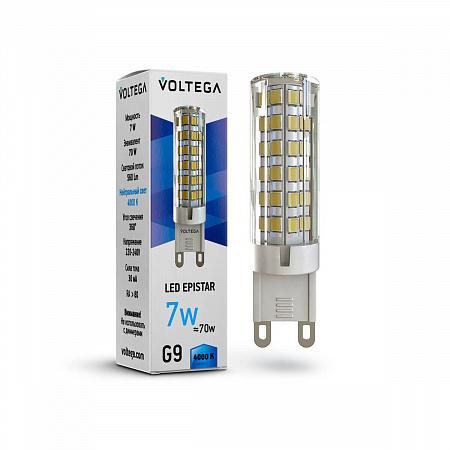 Лампа светодиодная Voltega G9 7W 4000К прозрачная VG9-K1G9cold7W 7037
