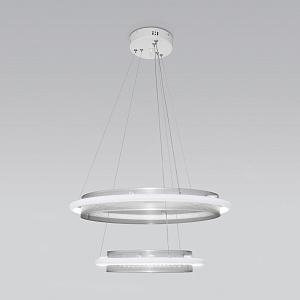 Подвесной светильник с системой умный дом Eurosvet Imperio 90241/2 белый/ серебро Smart