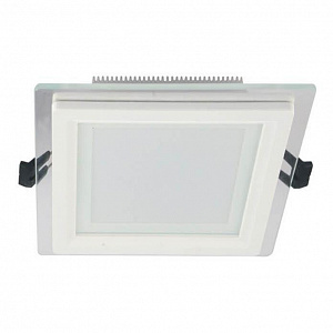 Встраиваемый светодиодный светильник Lumina Deco Beneto LDC 8097-SQ-GL-12WSMD-D160 WT