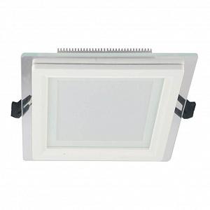 Встраиваемый светодиодный светильник Lumina Deco Beneto LDC 8097-SQ-GL-18WSMD-D200 WT