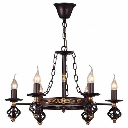 Подвесная люстра Arte Lamp Cartwheel A4550LM-6CK