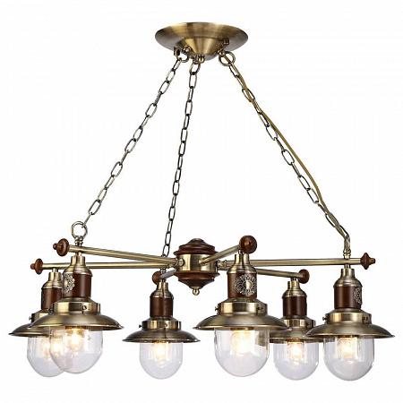 Подвесная люстра Arte Lamp Sailor A4524LM-6AB