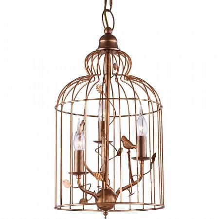 Подвесная люстра Arte Lamp Gabbia A1865SP-3BG