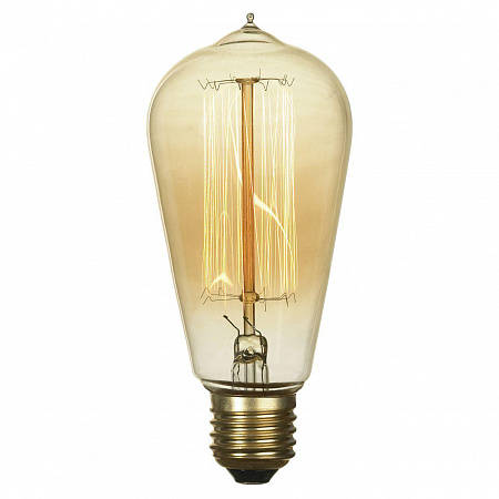 Лампа накаливания E27 60W 2700K колба прозрачный GF-E-764