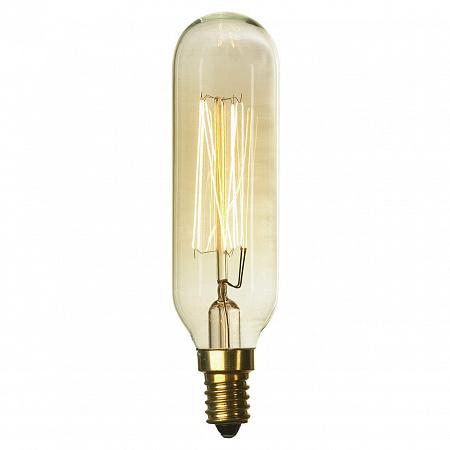 Лампа накаливания Е14 40W 2700K цилиндр прозрачный GF-E-46