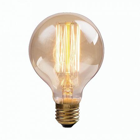 Лампа накаливания Е27 60W 2700K шар прозрачная GF-E-7125