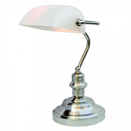 Настольная лампа Arte Lamp Banker A2491LT-1SS