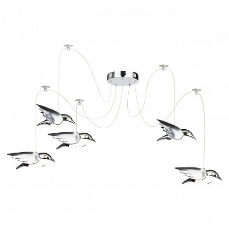 Подвесная светодиодная люстра Globo Bird 56670-5H