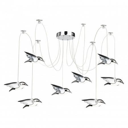 Подвесная светодиодная люстра Globo Bird 56670-8H
