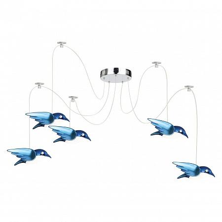Подвесная светодиодная люстра Globo Bird 56671-5H