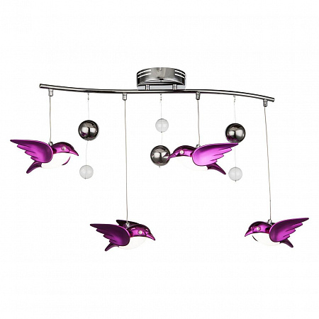Подвесная светодиодная люстра Globo Bird 56672-4B