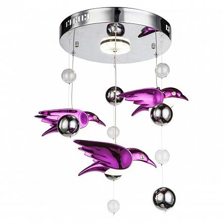Подвесная светодиодная люстра Globo Bird 56672-4D