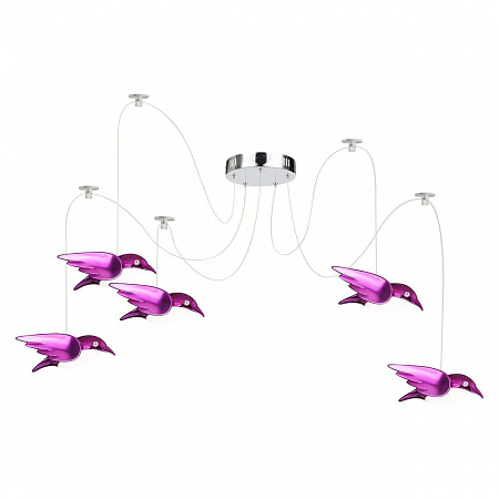 Подвесная светодиодная люстра Globo Bird 56672-5H