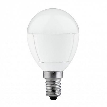 Лампа светодиодная 5W E14 3000K шар матовый 28148