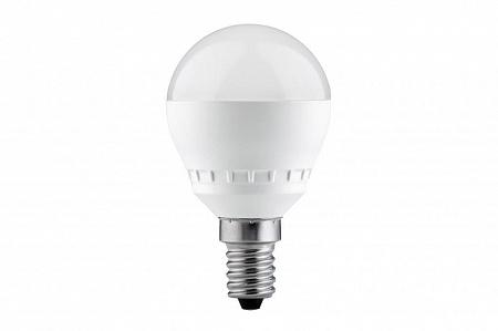 Лампа светодиодная E14 6,5W 2700K шар матовый 28242