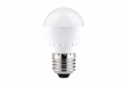 Лампа светодиодная E27 6,5W 2700K шар матовый 28243