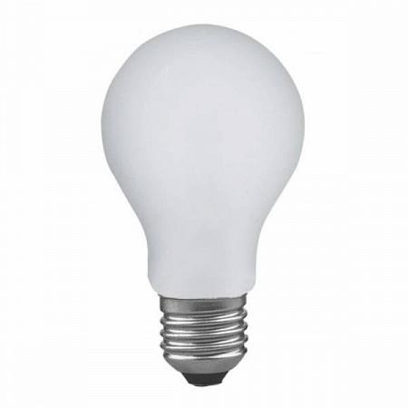 Лампа накаливания диммируемая ударопрочная E27 60W груша матовая 40019