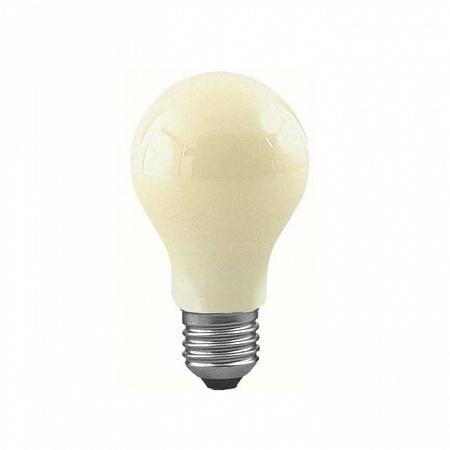 Лампа накаливания диммируемая для отпугивания насекомых Е27 60W груша желтая 46060